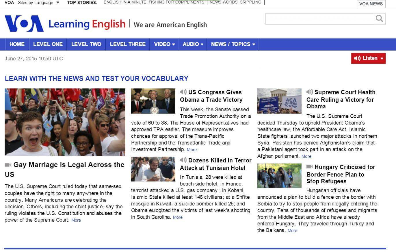 VOA Learning English và Voice of America